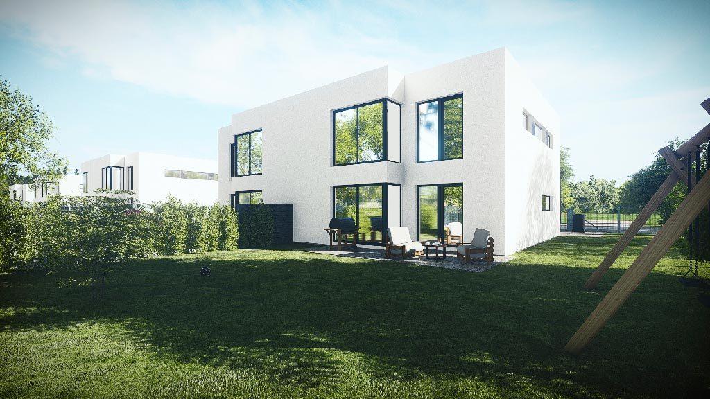 Domy ve Staré Boleslavi - vizualizace