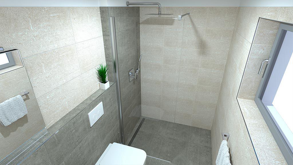 Domy ve Staré Boleslavi - vizualizace koupelny